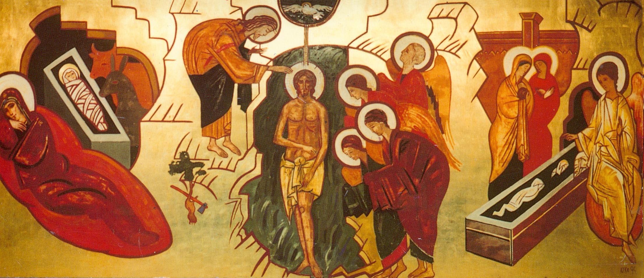 mural del bautismo