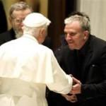 Kiko Auguello y Benedicto XVIpapa